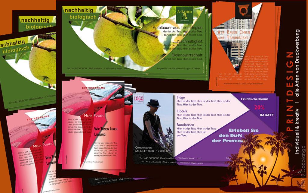 Grafikagentur WIEN: Printdesign, Logo, Corporate Identity, Corporate Design, Visitenkarten, Flyer, Folien, Kataloge, Broschüren, COCOLANGO