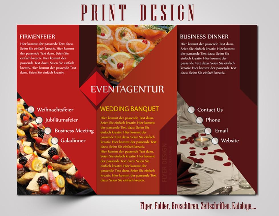 Printdesign, Grafikdesign, Flyer Design